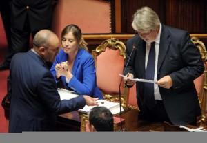 Disordini al Senato, sospesi Petrocelli del M5S e Centinaio della Lega