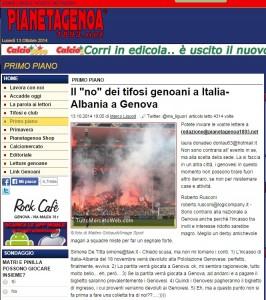 """Italia-Albania a Genova? Il """"no"""" dei tifosi genoani"""