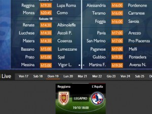 Reggiana-L'Aquila: diretta streaming su Sportube.tv, ecco come vederla