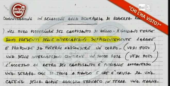 Roberta Ragusa, le due lettere a Antonio Logli a Chi l'ha visto? FOTO
