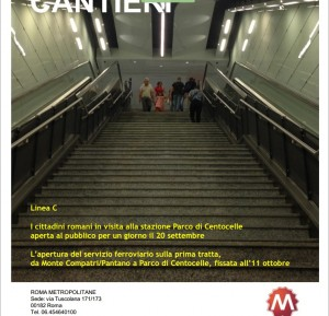 Metro C Pantano-Centocelle: rinviata anche l'apertura di sabato 11 ottobre