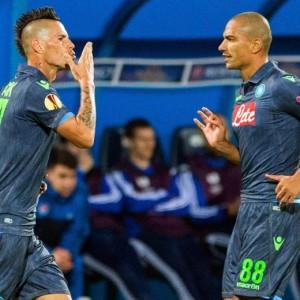 Video gol e pagelle. Slovan Bratislava-Napoli 0-2 e Dinamo Minsk-Fiorentina 0-3