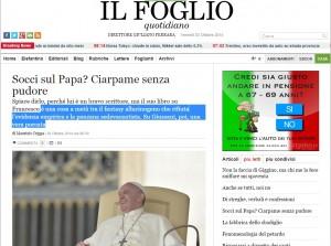 Antonio Socci su Papa Francesco? Ciarpame senza pudore: Maurizio Crippa, Foglio