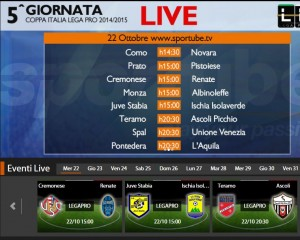 Teramo-Ascoli: diretta streaming su Sportube.tv, ecco come vederla