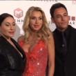 Valeria Marini in rosso fuoco al galà Telethon del Roma FilmFest