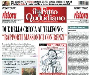"""Marco Travaglio sul Fatto Quotidiano: """"L'Angelino Severino"""""""
