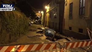 Alluvione Genova, la voragine a via Pontetti VIDEO
