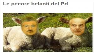 """Blog Beppe Grillo: """"Le pecore belanti del Pd"""""""