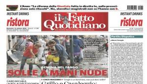 """Marco Travaglio sul Fatto Quotidiano: """"Partito dispotico"""""""