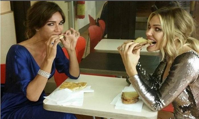 Matrimonio Michelle Hunziker, Blasi-Toffanin e il panino dopo le nozze FOTO