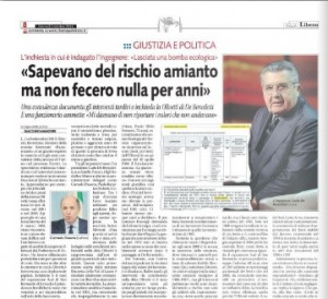Olivetti, amianto. Libero: documenti d'accusa contro De Benedetti, Colaninno & C