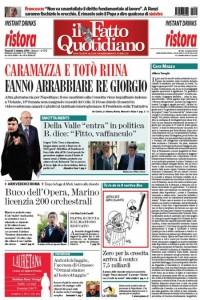 """Marco Travaglio sul Fatto Quotidiano: """"Cara Mazza"""""""