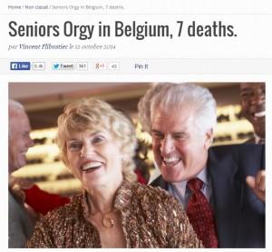 Orgia per anziani in Belgio. Muoiono in 7