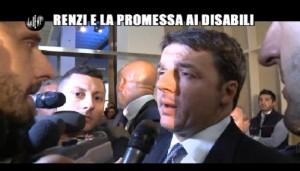 Le Iene, Renzi e le promesse ai disabili