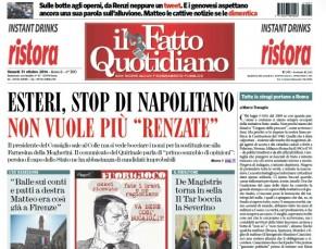 Guarda la versione ingrandita di Marco Travaglio sul Fatto Quotidiano: