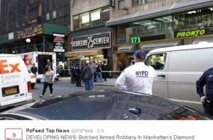 New York, furto di diamanti: caccia a due ladri armati e mascherati
