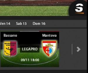 Bassano-Mantova streaming, diretta su Sportube.tv: ecco come vederla