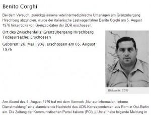 Muro di Berlino: Benito Corghi, camionista italiano ucciso dai Vopos e dimenticato