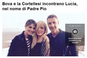 Casoria (Na), Raoul Bova incontra Lucia Esposito: ragazza afflitta da leucemia