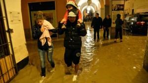Genova, Liguria: mappa dei danni di alluvione diffusa e bombe d'acqua