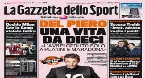 """Alessandro Del Piero: """"Il sogno? Vorrei giocare con Platini e Maradona"""""""