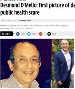 Desmond D'Mello, 22mila pazienti del dentista a rischio epatite e Hiv a Londra