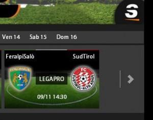 FeralpiSalò-Sudtirol: diretta streaming su Sportube.tv, ecco come vederla
