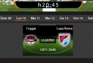 Foggia-Lupa Roma: diretta streaming su Sportube.tv, ecco come vederla