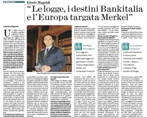 Guarda la versione ingrandita di Fabrizio D'Esposito intervista Gioele Magaldi sul Fatto Quotidiano