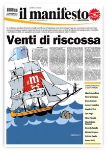 """Il Manifesto in edicola a 20 euro per restare in vita: """"Venti di riscossa"""""""