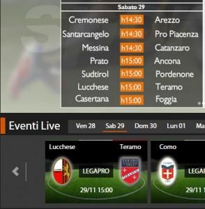 Lucchese-Teramo: diretta streaming su Sportube.tv, ecco come vederla