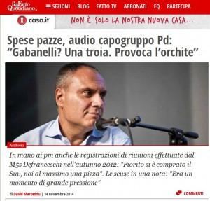 """Gabanelli tr..."": Marco Monari del Pd Emilia-Romagna si autosospende"