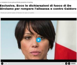 Nunzia De Girolamo: l'audio che svela le sue tattiche anti-Caldoro
