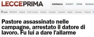 Giuseppe Roi arrestato per l'omicidio di Hyraj Qamil a Torre Lapillo (Lecce)