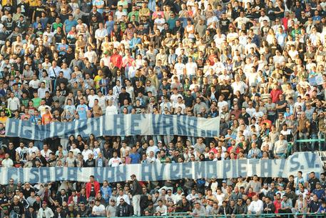 """Napoli-Roma, striscione: """"Se occasione ci sarà non avremo pietà"""" FOTO"""
