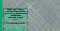 Emilia Romagna elezioni al via Come si vota? Ecco il fac simile