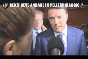 Le Iene, Matteo Renzi e la scommessa con Bruno Vespa VIDEO