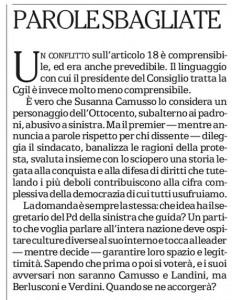 L'editoriale di Repubblica
