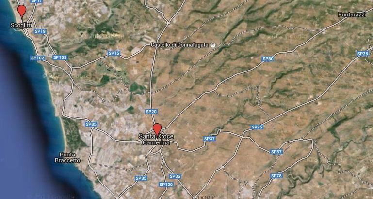 Santa Croce Camerina-Scoglitti, distanza di 4 km