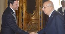"""Riforme, Renzi da Napolitano """"Possibile farle tutti insieme"""""""