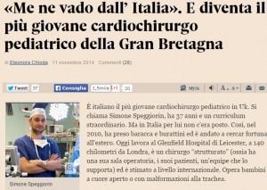 Simone Speggiorin: medico precario in italia, cardiochirurgo pediatrico in GB