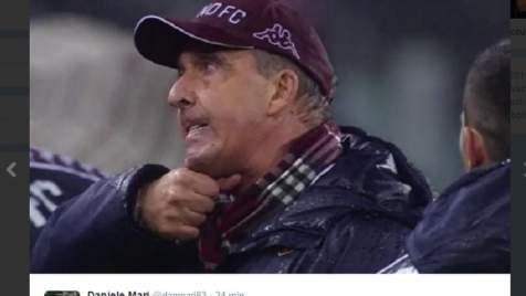 Giampiero Ventura gesto tagliagole (video) dopo Juventus-Torino