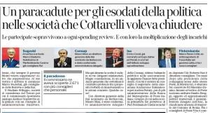 Un paracadute per gli esodati della politica. Sergio Rizzo, Corriere della Sera