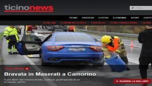 La notizia sul sito svizzero Ticino News