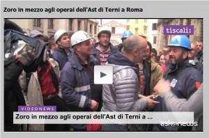 """Ast Terni, Zoro in mezzo agli operai """"Uno di noi!"""""""