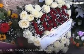 Andrea Loris Stival, fiori di Veronica Panarello restano fuori dalla chiesa VIDEO