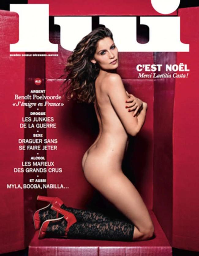 Laetitia Casta nuda sulla copertina natalizia di Lui FOTO
