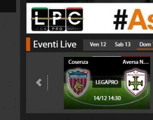 Cosenza-Aversa Normanna: diretta streaming su Sportube.tv, ecco come vederla