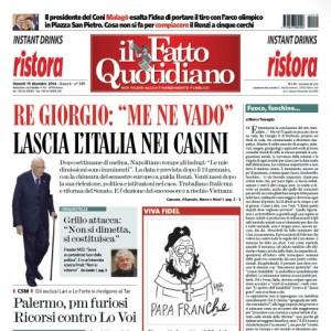 """Marco Travaglio sul Fatto Quotidiano: """"Fuoco, fuochino..."""""""