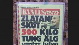 La notizia pubblicata da un giornale svedese (foto Twitter)